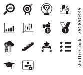 solid black vector icon set  ... | Shutterstock .eps vector #795890449