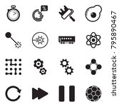 solid black vector icon set  ... | Shutterstock .eps vector #795890467