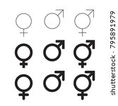 male and female vector icon...   Shutterstock .eps vector #795891979