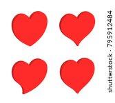 3d heart shape icon  vector...   Shutterstock .eps vector #795912484