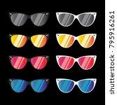 sunglasses vector for summer... | Shutterstock .eps vector #795916261