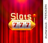 slots 777 casino jackpot ... | Shutterstock .eps vector #795924394