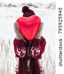 unrecognizable woman closing... | Shutterstock . vector #795925945