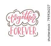 valentine day poster. hand... | Shutterstock .eps vector #795926227