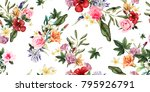 seamless floral pattern with... | Shutterstock .eps vector #795926791