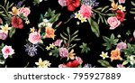 seamless floral pattern with... | Shutterstock .eps vector #795927889