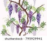 beautiful seamless vector... | Shutterstock .eps vector #795929941