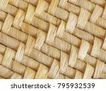 close up of natural woven mat... | Shutterstock . vector #795932539