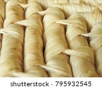 close up rows of natural woven... | Shutterstock . vector #795932545