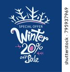 winter 20  off sale.... | Shutterstock .eps vector #795937969