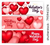 happy valentine day banners.... | Shutterstock .eps vector #795941074