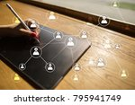 Small photo of Team building structure and organization concept. HR and recruitment.