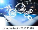 business process concept on... | Shutterstock . vector #795941989