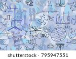 vector seamless pattern with... | Shutterstock .eps vector #795947551
