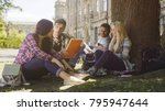 college students having... | Shutterstock . vector #795947644
