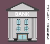 a small old bank | Shutterstock .eps vector #795948511