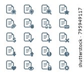 set of document icons. vector... | Shutterstock .eps vector #795949117
