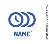 clock logotype. vector logo... | Shutterstock .eps vector #795955747
