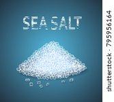 vector heap of sea salt... | Shutterstock .eps vector #795956164