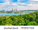 cityscape of singapore. view... | Shutterstock . vector #795957769