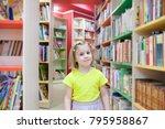 pretty girl in   children's... | Shutterstock . vector #795958867