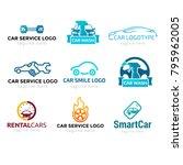 logotype set car service  logo... | Shutterstock .eps vector #795962005