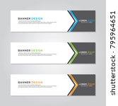 banner background modern vector ...   Shutterstock .eps vector #795964651