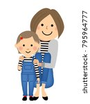 mothers and daughters in... | Shutterstock .eps vector #795964777