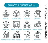 business and finance icons set. ... | Shutterstock .eps vector #795973111