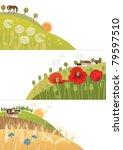 summer corners | Shutterstock .eps vector #79597510
