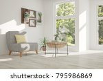 idea of white room with... | Shutterstock . vector #795986869