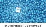 a lot of scattered cubes with... | Shutterstock . vector #795989515