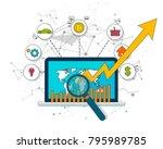 digital bitcoin cryptocurrency. ... | Shutterstock .eps vector #795989785