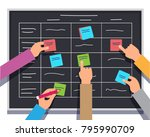 business software development... | Shutterstock .eps vector #795990709