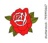 rose flower traditional tattoo... | Shutterstock .eps vector #795993667