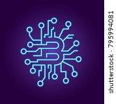 abstract concept of bitcoin... | Shutterstock .eps vector #795994081