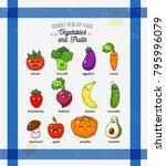 cartoon funny vegetable... | Shutterstock .eps vector #795996079