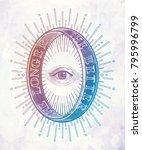 ornate mystic eye inside the... | Shutterstock .eps vector #795996799