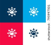 sun mexican symbol four color...