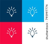 lightbulb creative symbol four...