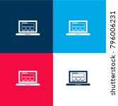 responsive webpage on laptop...