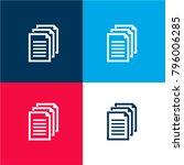 documents symbol four color...