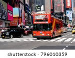 new york  usa   sep 16  2017 ... | Shutterstock . vector #796010359