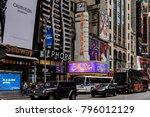 new york  usa   sep 16  2017 ... | Shutterstock . vector #796012129