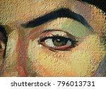 close up of a female face with... | Shutterstock . vector #796013731