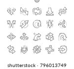 arrows well crafted pixel... | Shutterstock .eps vector #796013749