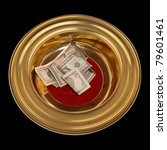 Church Offering Plate With Som...