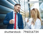 young business people are... | Shutterstock . vector #796016734