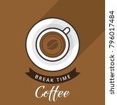 coffee break vector... | Shutterstock .eps vector #796017484