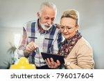 senior couple using digital... | Shutterstock . vector #796017604